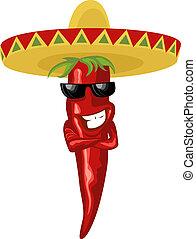 caldo, messicano, peperoncino