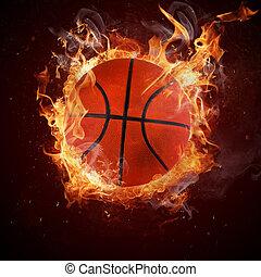 caldo, pallacanestro, fiamma, incendi
