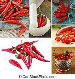 caldo rosso, pepe peperoncino rosso