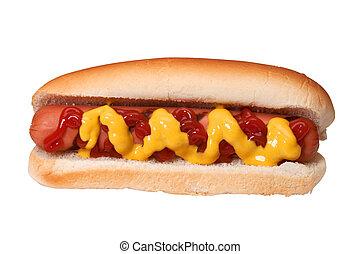 caldo, senape, ketchup, cane
