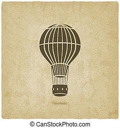 caldo, vecchio, balloon, fondo, aria