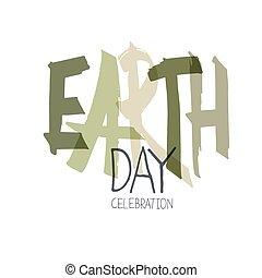 calebration, typography., minimalistic, 背景, 地球, ロゴ, 白, 日, celebration., 手書き