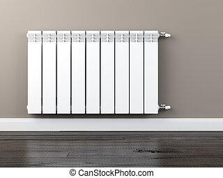 calefacción central, radiador