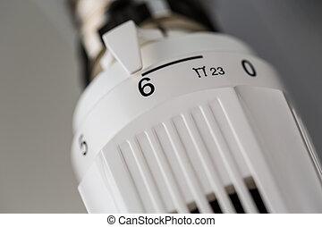 calefacción, termostato
