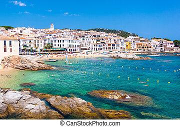 Calella de Palafrugell, Costa Brava, Catalonia, Spain. - ...