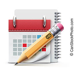 calendário, ícone
