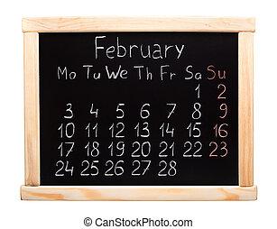 Calendário,  2014, Fevereiro