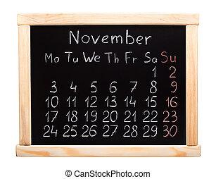 Calendário,  2014, novembro