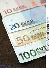 calendário, contas, euro