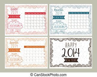 calendário, desenho
