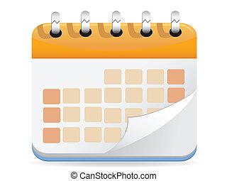 calendário, vetorial