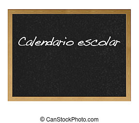 calendar., école
