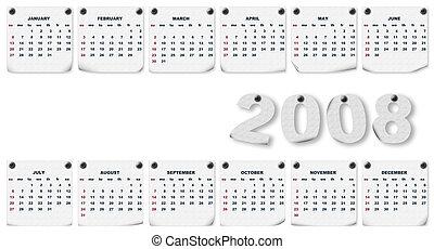 Calendar 2008 - Fabric texture