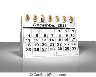 calendar., 2011., décembre, bureau