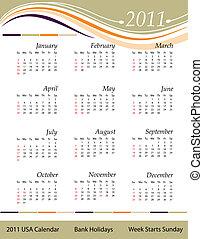 Calendar 2011 - USA
