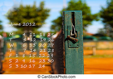 Calendar 2012 June - Page of calendar of 2012, Olympic year....