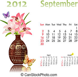 calendar 2012 with baskets