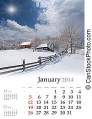 calendar., 2013, february.