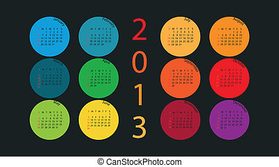 Calendar 2013 in Color Circles