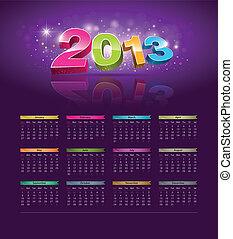 Calendar 2013 new year design