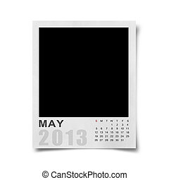 Calendar 2013 on photo background .