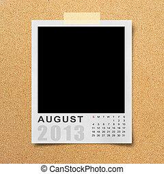 Calendar 2013 on photo background .