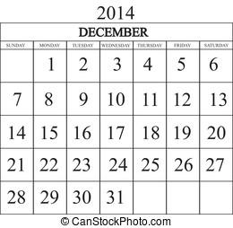Calendar 2014 December