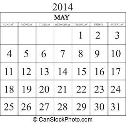 Calendar 2014 May