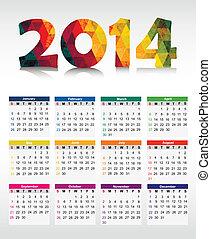 Calendar 2014. Vector
