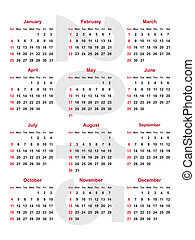 calendar 2015 - calendar for the year 2015
