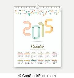 Calendar 2015 Origami paper