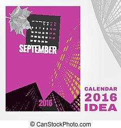 Calendar 2016 abstract template 01 A-02