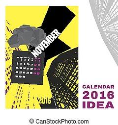 Calendar 2016 abstract template 01 A-03