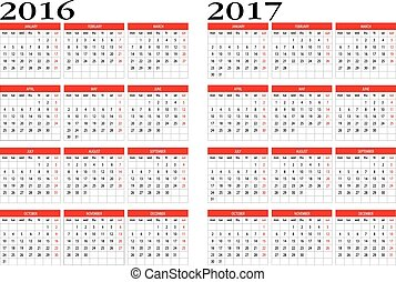 Calendar 2016 and 2017 - New calendar 2016 and 2017 in...