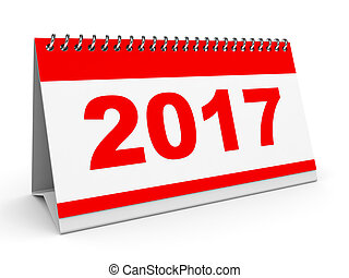 Calendar 2017. - Calendar 2017 on white background. 3D...