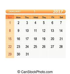 calendar 2017 template icon vector illustration design