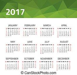 Calendar 2017 year