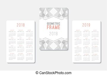 calendar 2018 and 2019 template