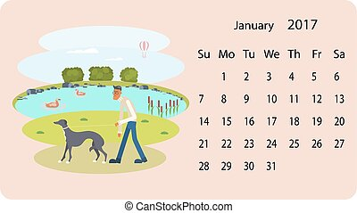 Calendar 2018 for January