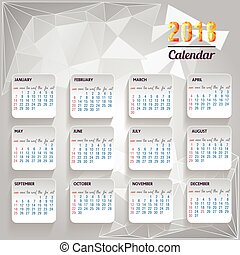 calendar 2018 happy new year Vector Illustration