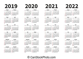 12 Month Calendar Design 2019 2020 Printable And Editable