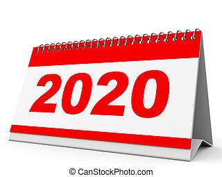 Can Calendrier 2020.Calendar 2020 Calendar 2020 On White Background 3d
