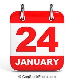 calendar., 24, january.