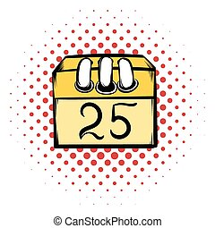Calendar 25 number  comics icon