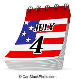 Calendar 4th july