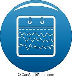 Calendar abstract icon blue vector