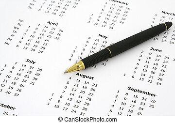 calendar and ballpoint pen #2