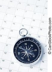 Calendar and compass