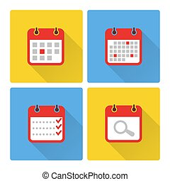 Calendar and to do list colorful flat icons. Calendar plan...