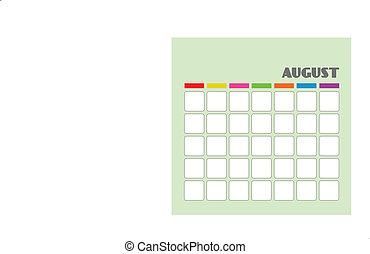 Calendar: AUGUST